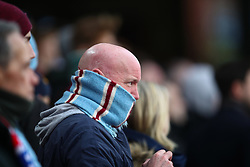 31 December 2017 -  Premier League - Crystal Palace v Manchester City - A bald Manchester City fan with a scarf wrapped around his head - Photo: Marc Atkins/Offside