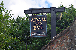 Adam & Eve pub, probably the oldest pub in Norwich, UK