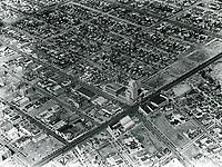 1930 Aerial photo of Wilshire Blvd. & La Brea Ave.