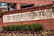 Sign for Sony Music Publishing headquarters in Nashville, TN.