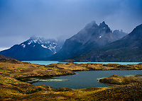 NATIONAL PARK TORRES DEL PAINE, CHILE - CIRCA FEBRUARY 2019:  Nordenskjold Lake in Torres del Paine National Park, Chile.