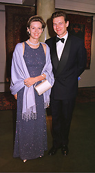 MR & MRS JAMES OGILVY he is the son of HRH Princess Alexandra, at a dinner in London on 19th May 1999.MSF 33