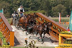 Dobrovitz Jozsef Jr, (HUN), Bandidos, Doerak, Vivaldo, Waltstar<br /> Marathon Driving Competition<br /> European Championships - Aachen 2015<br /> © Hippo Foto - Dirk Caremans<br /> 22/08/15