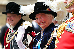 Dame Mary Peters during the annual Order of the Garter Service at St George's Chapel, Windsor Castle.