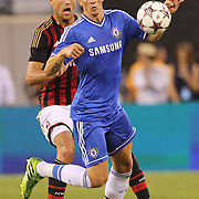 Fernando Torres, Chelsea, in action during the Chelsea V AC Milan Guinness International Champions Cup tie at MetLife Stadium, East Rutherford, New Jersey, USA.  4th August 2013. Photo Tim Clayton