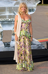 Goldie Hawn arrives for the Official Elephant Parade Mela and auction, at the Royal Hospital Gardens in London