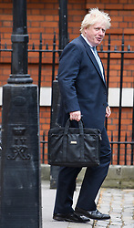 © Licensed to London News Pictures. 10/07/2018. London, UK. Former Foreign Secretary BORIS JOHNSON is seen leaving his London home the morning after resigning from cabinet. Cabinet resignations by Former Foreign Secretary Boris Johnson and former Brexit secretary David Davis have put pressure on Prime Minister Theresa May over her handling of the Brexit negotiations, with suggestions of a leadership challenge. Photo credit: Ben Cawthra/LNP