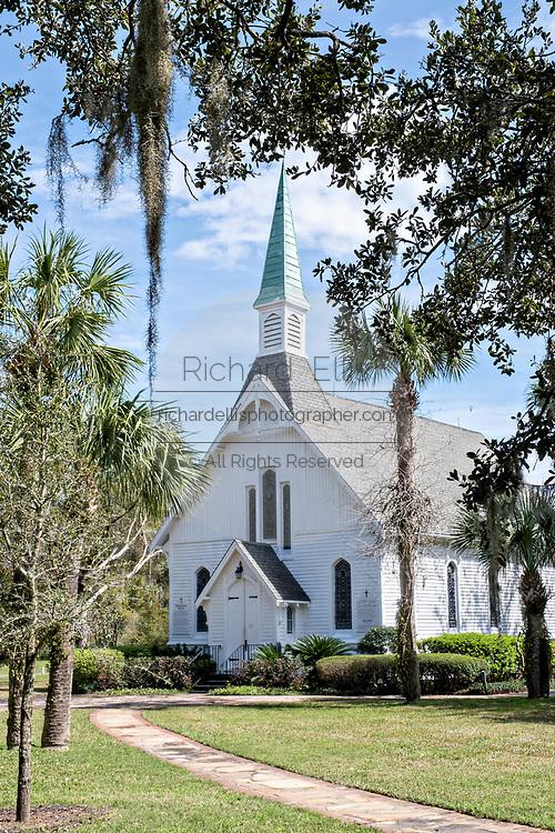 The Saint Simons Mill Church also known as Lovely Lane Chapel in St. Simons Island, Georgia.