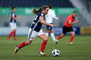 Erin Cuthbert (#22) of Scotland dribbles the ball towards goal during the FIFA Women's World Cup UEFA Qualifier match between Scotland Women and Belarus Women at Falkirk Stadium, Falkirk, Scotland on 7 June 2018. Picture by Craig Doyle.