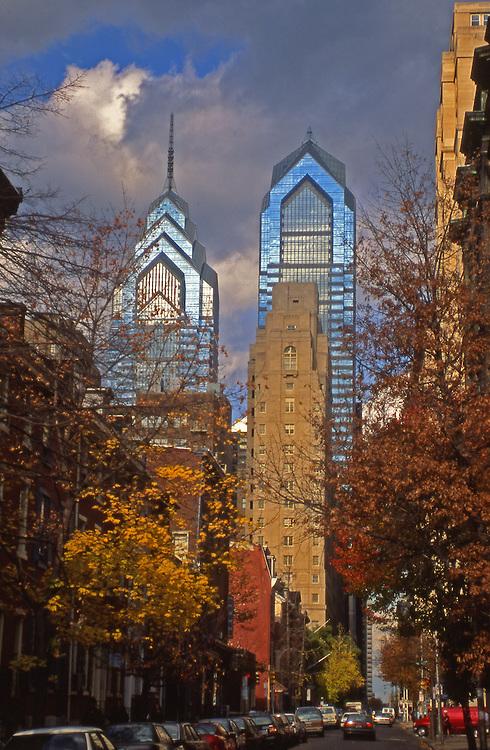 Philadelphia, Fall, Market Street and Skyscrapers