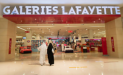 Galleries Lafayette store  inside the Dubai Mall in United Arab Emirates UAE