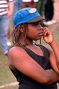 Girl age 12 at South Minneapolis neighborhood festival.  Minneapolis  Minnesota USA