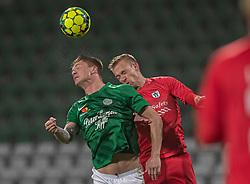 Sebastian Grønning (Viborg FF) og Jonas Henriksen (FC Helsingør) under kampen i 1. Division mellem Viborg FF og FC Helsingør den 30. oktober 2020 på Energi Viborg Arena (Foto: Claus Birch).