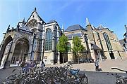 Nederland, Nijmegen, 20-4-2017 De St Stevenskerk, interieur. De kerk is gebouwd in verschillende periodes en met verschillende stijlen. Romaans en gothisch . Naast een religieuze heeft de kerk ook een culturele functie voor de stad.Foto: Flip Franssen