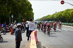 Annelies Dom (BEL) sets the pace at Tour of Chongming Island 2019 - Stage 1, a 102.7 km road race on Chongming Island, China on May 9, 2019. Photo by Sean Robinson/velofocus.com