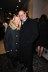 SEAN PERTWEE and his wife JACQUI at the after show party following the first night of the musical Legally Blonde, held at the Waldorf Hilton Hotel, Aldwych, London on 13th January 2010.