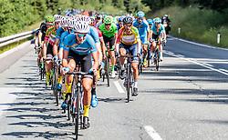 07.07.2017, St. Johann Alpendorf, AUT, Ö-Tour, Österreich Radrundfahrt 2017, 5. Kitzbühel - St. Johann/Alpendorf (212,5 km), im Bild Stefan Denifl (AUT, Aqua Blue Sport, gelbes Trikot) // Stefan Denifl of Austria (Aqua Blue Sport yellow jersey) during the 5th stage from Kitzbuehel - St. Johann/Alpendorf (212,5 km) of 2017 Tour of Austria. St. Johann Alpendorf, Austria on 2017/07/07. EXPA Pictures © 2017, PhotoCredit: EXPA/ JFK