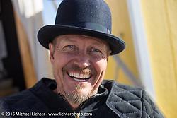 Sculptor Jeff Decker at the Race of Gentlemen. Wildwood, NJ, USA. October 10, 2015.  Photography ©2015 Michael Lichter.