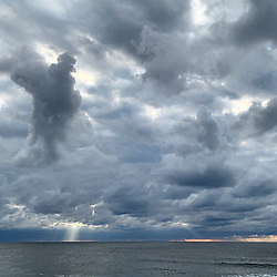 Dramatic Sky in Montauk over the ocean