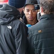 NLD/Noordwijk/20110207 - Aankomst Nederlands elftal in hotel voor oefeninterland Nederland - Oostenrijk, Urby Emanuelson