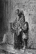 A Poor Mendicant. from the book ' Around the world in eighty days ' by Jules Verne (1828-1905) Translated by Geo. M. Towle, Published in Boston by James. R. Osgood & Co. 1873 First US Edition