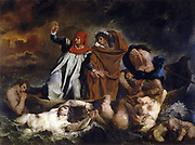 Eugene Delacroix (1798-1863) French Romantic painter 'barque of dante' 1822