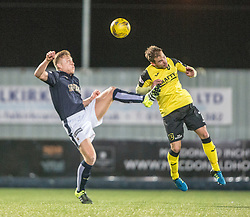 Falkirk's Peter Grant and Livingston Scott Pittman. Falkirk 2 v 0 Livingston, Scottish Championship game played 29/12/2015 at The Falkirk Stadium.