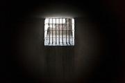 Death Block prison cell, Auschwitz, Poland.