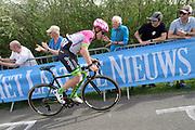 EF Education First-Drapac p/b Cannondale rider Lawson Craddock (USA) on the Côte de la Redoute climb during the 2018 Liège-Bastogne-Liège elite men's race on Sunday 22 April 2018.
