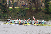 The Men's Boat Race.<br /> <br /> Oxford crew: Charlie Pearson, Ben Landis, Achim Harzheim, Patrick Sullivan, Tobias Schroder, Felix Drinkall, Charlie Buchanan, Augustin Wambersie, Toby de Mendonca.<br /> Cambridge crew: Dave Bell, James Cracknell, Grant Bitler, Dara Alizadeh, Callum Sullivan, Sam Hookway, Freddie Davidson, Natan Wegrzycki-Szymczyk, Matthew Holland.<br /> <br /> The Boat Race 2019<br /> <br /> To purchase this photo, or to see pricing information for Prints and Downloads, click the blue 'Add to Cart' button at the top-right of the page.