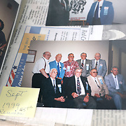 A group photo from a veterans reunion is seen at the Michigan Avenue home of George Snyder, Jr., a 97-year-oldWorld War II veteran, in Maumee, Ohio, on Thursday, Jan. 2, 2020.Snyder survived combat and capture while serving in the Army in the 337th Infantry Regiment, 85th Infantry Division, Company G, in Italy. THE BLADE/KURT STEISS<br /> MAG WWIIVet01