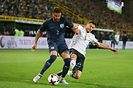 Kyle Walker of England tackled by Jonas Hector of Germany during the International Friendly match between Germany and England at Signal Iduna Park, Dortmund, Germany on 22 March 2017. Photo by Phil Duncan.