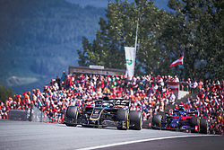 30.06.2019, Red Bull Ring, Spielberg, AUT, FIA, Formel 1, Grosser Preis von Österreich, Rennen, im Bild Romain Grosjean (FRA, Haas) // French Formula One driver Romain Grosjean of Haas during the race for the Austrian FIA Formula One Grand Prix at the Red Bull Ring in Spielberg, Austria on 2019/06/30. EXPA Pictures © 2019, PhotoCredit: EXPA/ Dominik Angerer