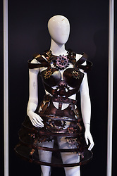 Chocolate fashion creations on display at The Chocolate Show, at Olympia in Kensington, London.  Picture date: Friday October 13th, 2017. Photo credit should read: Matt Crossick/ EMPICS Entertainment.