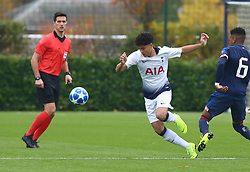 November 6, 2018 - London, England, United Kingdom - Enfield, UK. 06 November, 2018.Phoenix Patterson of Tottenham Hotspur.during UEFA Youth League match between Tottenham Hotspur and PSV Eindhoven at Hotspur Way, Enfield. (Credit Image: © Action Foto Sport/NurPhoto via ZUMA Press)