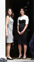 Carla Bruni; Samantha Cameron French President UK Visit, Downing Street, Whitehall, London, UK, 18 June 2010. For piQtured Sales contact: Ian@piqtured.com Tel: +44(0)791 626 2580 (Picture by Richard Goldschmidt/Piqtured)