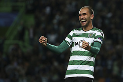 November 22, 2017 - Lisbon, Portugal - Sporting's forward Bas Dost celebrates after scores his goal during the UEFA Champions League group D match between Sporting CP and Olympiacos FC at Alvalade Stadium on November 22, 2017 in Lisboa, Portugal. (Filipe Amorim / Nurphoto) (Credit Image: © Filipe Amorim/NurPhoto via ZUMA Press)