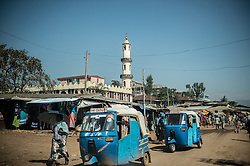 The city of Jimma in Ethiopia.