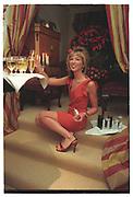 HEATHER MURPHY, Heather Murphy Thanksgiving meal. Phillimore Gdns. London W8. 19 Nov 1998