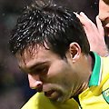 Football - 2012 / 2013 Premier League - Norwich vs. Manchester City<br /> <br /> Norwich City's Javier Garrido in action against Manchester City's Pablo Zabaleta at Carrow Road, Norwich