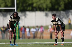 Daniel Demas of Boland and Theuns Kotze of Boland during the Currie Cup premier division match between the Boland Cavaliers and The Blue Bulls held at Boland Stadium, Wellington, South Africa on the 23rd September 2016<br /> <br /> Photo by:   Shaun Roy/ Real Time Images