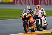 Marc Marquez followed by Gino Rea