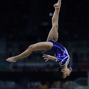 Gymnastics - Olympics: Day 10   Flavia Saraiva #316 of Brazil performing her routine in the Women's Balance Beam Final during the Artistic Gymnastics competition at the Rio Olympic Arena on August 15, 2016 in Rio de Janeiro, Brazil. (Photo by Tim Clayton/Corbis via Getty Images)