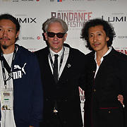 Director of Fog Forest, Elliot Grove and David Dai attends the Raindance Opening Gala 2018 held at Vue West End, Leicester Square on September 26, 2018 in London, England.