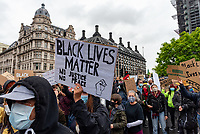 Black Lives Matter Peaceful Protest,Demonstrators march through Westminster  6 June 2020 Photo by Mark Anton Smith