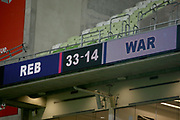 Full time scoreboard. Melbourne Rebels v NSW Waratahs. 2021 Super Rugby AU Round 5 Match. Played at AAMI Stadium on Friday 19 March 2021. Photo Clay Cross / photosport.nz