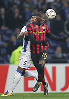 20120216: PORTO, PORTUGAL – UEFA Europa League 2011/2012 - 1/16 Final - 1st Leg: FC Porto vs Man. City.<br /> In photo: BOLOTELLI AND ALVARO PEREIRA.<br /> PHOTO: PEDRO PEREIRA/CITYFILES