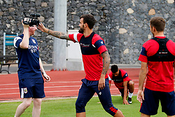 Marlon Pack of Bristol City jokes with Adam Baker before a training match - Mandatory by-line: Matt McNulty/JMP - 19/07/2017 - FOOTBALL - Tenerife Top Training Centre - Costa Adeje, Tenerife - Pre-Season Training