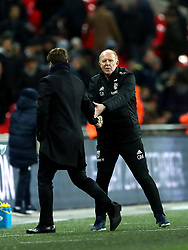 West Bromwich Albion caretaker manager Gary Megson shakes hands with Tottenham Hotspur manager Mauricio Pochettino at the end of the match