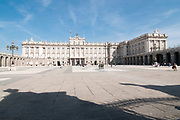 Royal Palace, Madrid, Spain. The courtyard